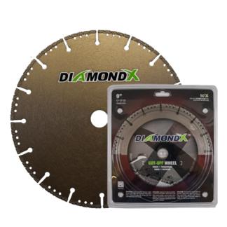 Teemantkettad DIAMONDX (metall, kivi, puit, pvc)